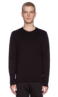 Velvet by Graham & Spencer Winter Slub Classic Fritz Tee in Black