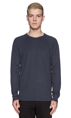 Velvet by Graham & Spencer Military Thermal Axel Tee in Deep Sea