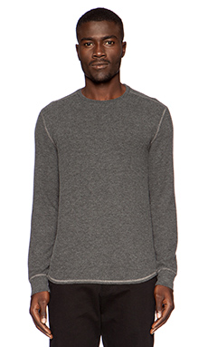 Velvet by Graham & Spencer Cozy Heather Jersey Bronson Tee in Charcoal