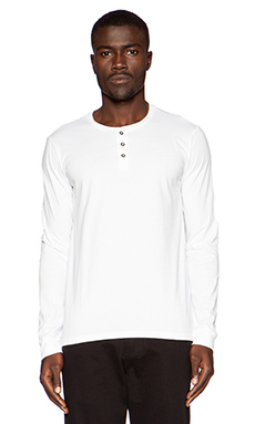 Velvet by Graham & Spencer Jersey Classic Kingston Henley in White