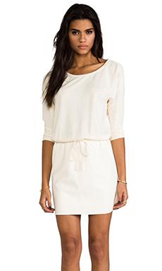 Velvet French Terry Verni Dress in Winter White