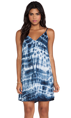 Velvet by Graham & Spencer Anatasi Tie Dye Rayon Voile Dress in Twinkle