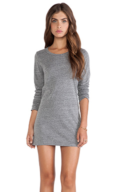 Velvet by Graham & Spencer Thea Heather Grey Knit Dress Long Sleeve Dress in Grey in Heather Grey