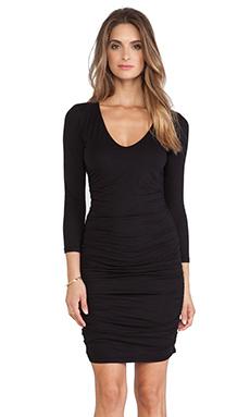 Velvet by Graham & Spencer Deja Gauzy Whisper Dress in Black