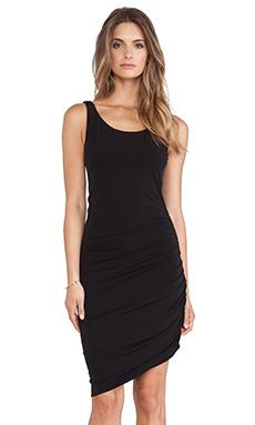 Velvet by Graham & Spencer Santina Stretch Jersey with Lace Dress in Black