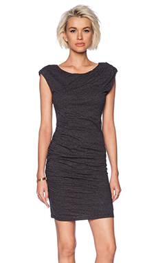 Velvet by Graham & Spencer Soft Texture Knit Reta Dress in Black