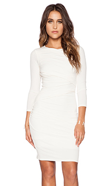 Velvet by Graham & Spencer Stretch Jersey Raymee Dress in Cream