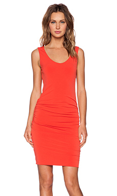 Velvet by Graham & Spencer Stretch Jersey Bonte Dress in Crimson