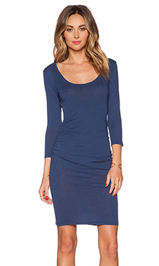 Velvet by Graham & Spencer Cotton Slub Cailey Dress in Tide