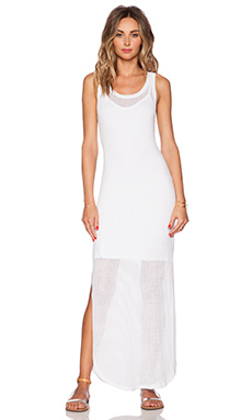 Velvet by Graham & Spencer Viscose Mesh Georgi Dress in White