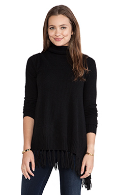 Velvet by Graham & Spencer Kyla Cashmere Classic Sweater in Black