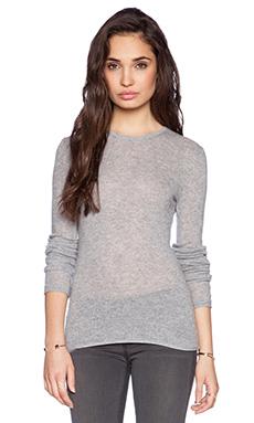 Velvet by Graham & Spencer Sheer Cashmere Shanee Sweater in Heather