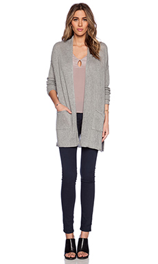 Velvet by Graham & Spencer Mesh Blend Sheena Cardigan in Heather Grey