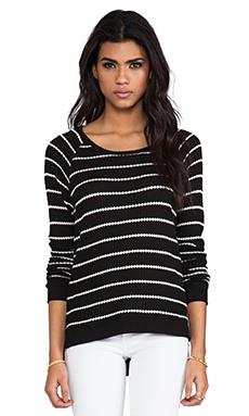 Velvet Stripe Becky Thermal in Black