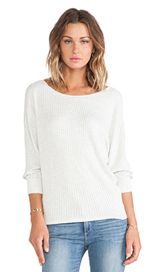 Velvet by Graham & Spencer Neema Thermal Knit Dolman Pullover in Cream