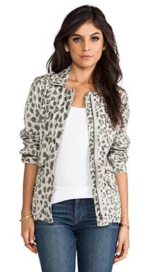 Lily Aldridge for Velvet Aziya Leopard Army Jacket in Multi