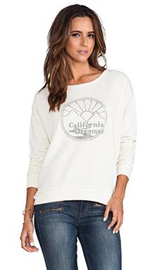 Lily Aldridge for Velvet QiQi Sweatshirt in Oatmeal/Grey
