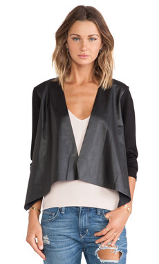Velvet by Graham & Spencer Candy Ponti w/ Faux Leather Jacket in Black
