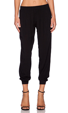 Velvet by Graham & Spencer Slub Rayon Challis Zosia Pant in Black