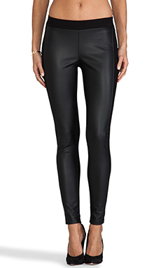 Velvet by Graham & Spencer Leticia Ponti w/ Faux Leather Legging in Black/Black