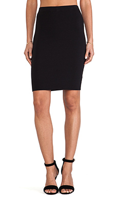 Velvet by Graham & Spencer Garline Cotton Lycra Pencil Skirt in Black
