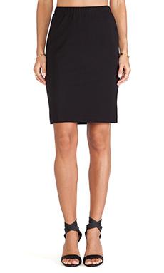 Velvet by Graham & Spencer Frisco Ponti Basic Skirt in Black