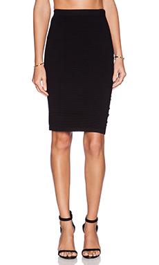 Velvet by Graham & Spencer Engineered Body Con Rayanne Skirt in Black