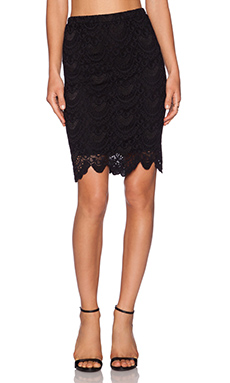 Velvet by Graham & Spencer Kiara Lace Tera Skirt in Black
