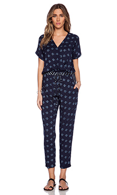 Velvet by Graham & Spencer Indian Challis Cady Jumpsuit in Multi