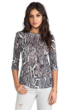 Lily Aldridge for Velvet Aldridge Lisa Snake Print Top in Multi