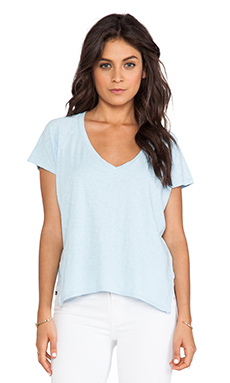 Velvet by Graham & Spencer Angelique Cotton Slub Tee in Danube