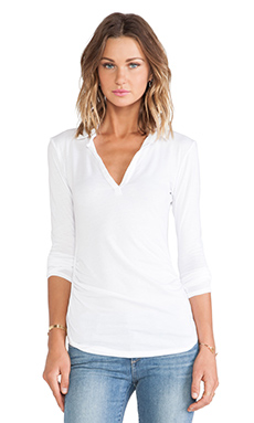 Velvet by Graham & Spencer Bronze Gauzy Whisper Top in White