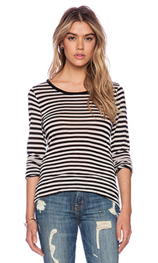 Velvet by Graham & Spencer Annalisa Stripe Jersey Top in Beach