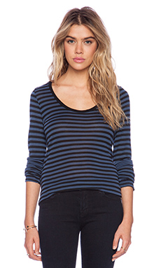 Velvet by Graham & Spencer Eartha Stripe Jersey Top in Colonial