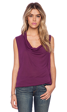 Velvet by Graham & Spencer Shirell New Drapey Slinky Tank in Raisonette