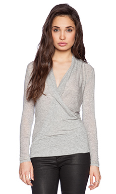 Velvet by Graham & Spencer Autumn Gauze Fairy Top in Heather Grey