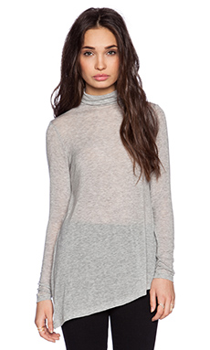 Velvet by Graham & Spencer Autumn Gauze Jazzlyn Top in Heather Grey