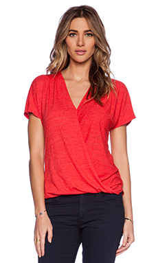 Velvet by Graham & Spencer Soft Texture Knit Rasheeda Tee in Cherry
