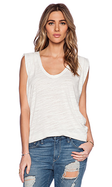 Velvet by Graham & Spencer Soft Texture Knit Vita Tank in Crystal