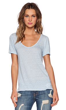Velvet by Graham & Spencer Linen Knit Paulie Tee in Larkspur