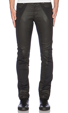VERSACE Coated Denim in Black