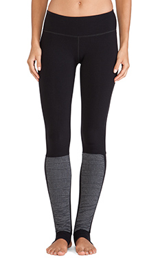 Vimmia Stirrup Pant in Black & Heather Black Stripe