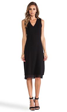 Vince V-Neck Dress in Black