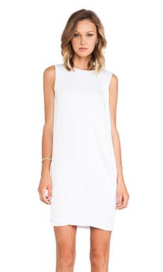 Vince Drape Dress in White