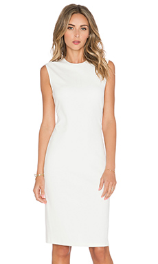 Vince Ponte Dress in Eggshell