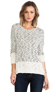 Vince Marl Colorblock Sweater in Cream Marl