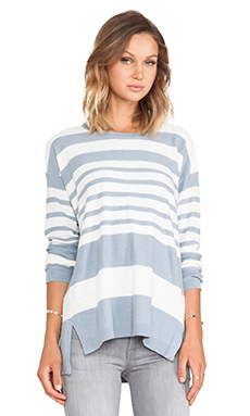 Vince Striped Sweater in Sailcloth & Chambray