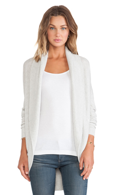 Vince Circle Cardigan in Heather Snow