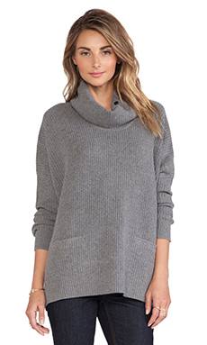 Vince Oversized Turtleneck in Heather Grey