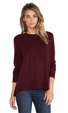 Vince Overlay Sweater in Shiraz
